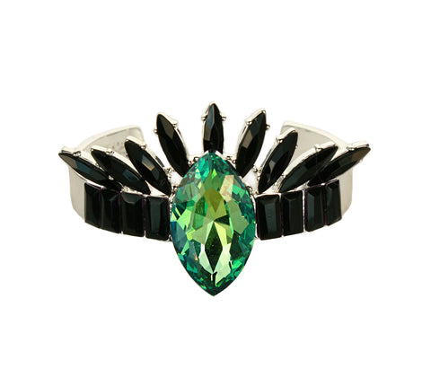 Emerald Crystal Crown Cuff
