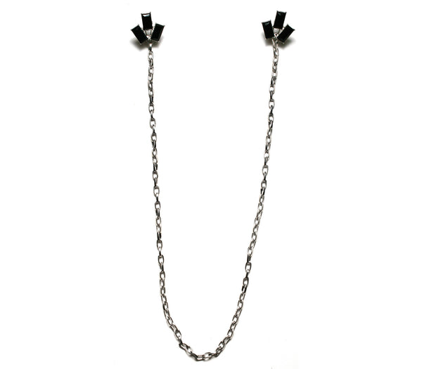 Jet Trio Stud Earring Necklace