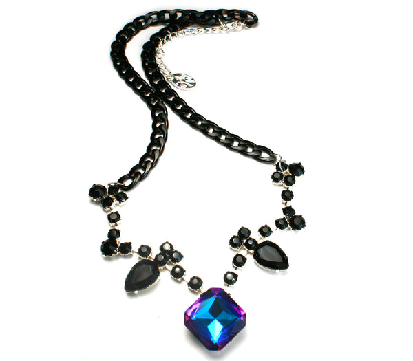 Black on Black Ombre Necklace