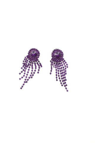 Iridescent Purple Rainfall Earrings