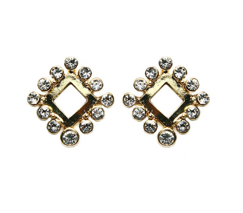 Love Squared Gold Studs