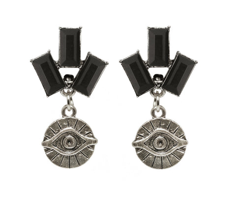 Egyptian Eye Trio Earrings