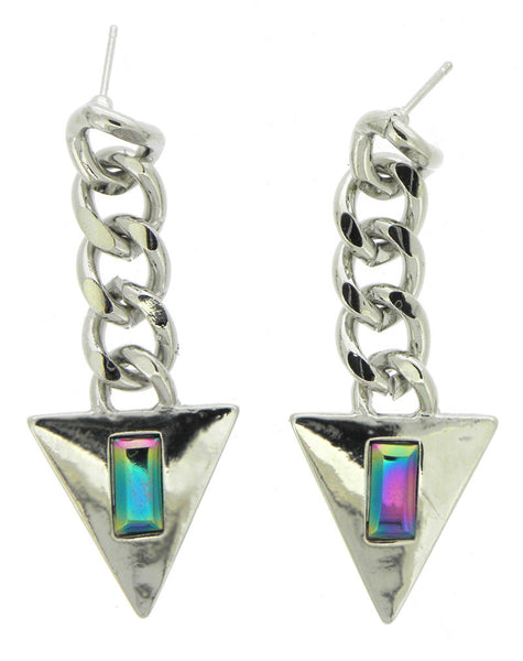 Galactic Triangle Earrings