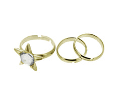 Celestial Star Midi Ring Set in Gold