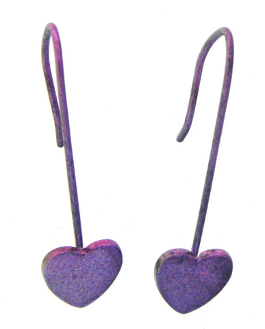 Desert Sunset Heart Earrings