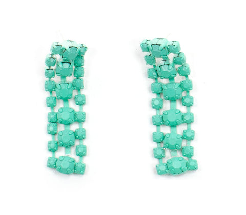 Turquoise Sorbet Summer Waterfall Earrings