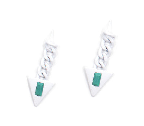 Turquoise Sorbet Summer Galactic Triangle Earrings