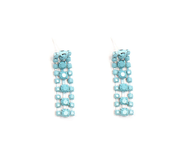 Blue Sorbet Summer Waterfall Earrings