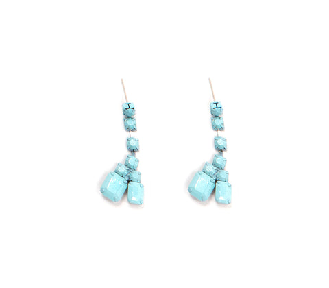 Blue Sorbet Summer Double Teardrop Earrings