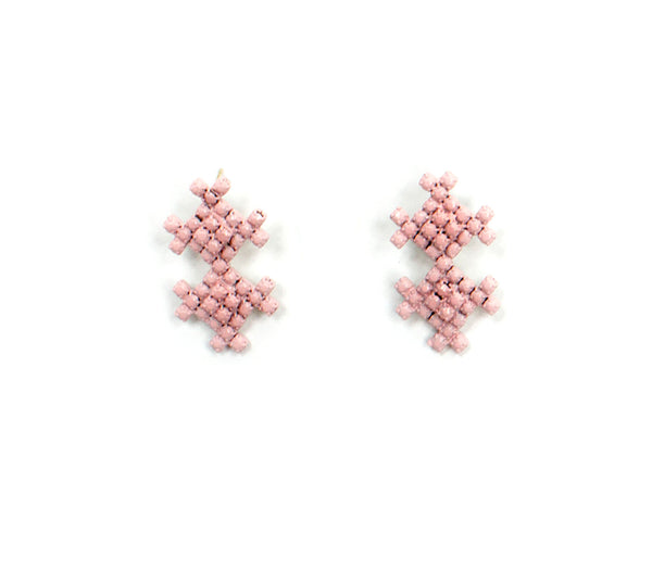 Pink Sorbet Summer Geo Drop Earrings