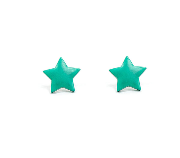 Turquoise Sorbet Summer Star Studs