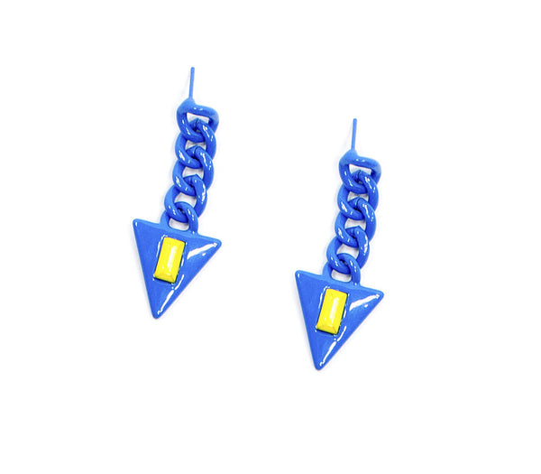 Sugar Jewels Galactic Triangle Earrings