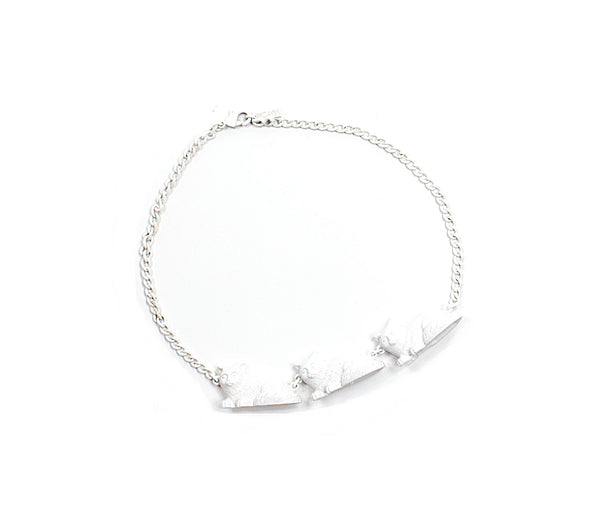 Classic Candy White Cat Parade Necklace