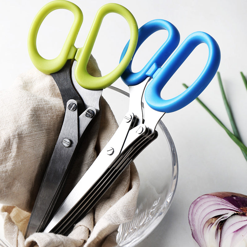 Stainless Steel Vegetable Scissors - 5 Blades