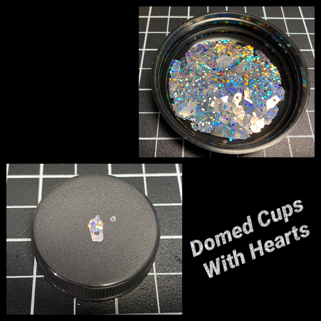 Domed Cups With Hearts