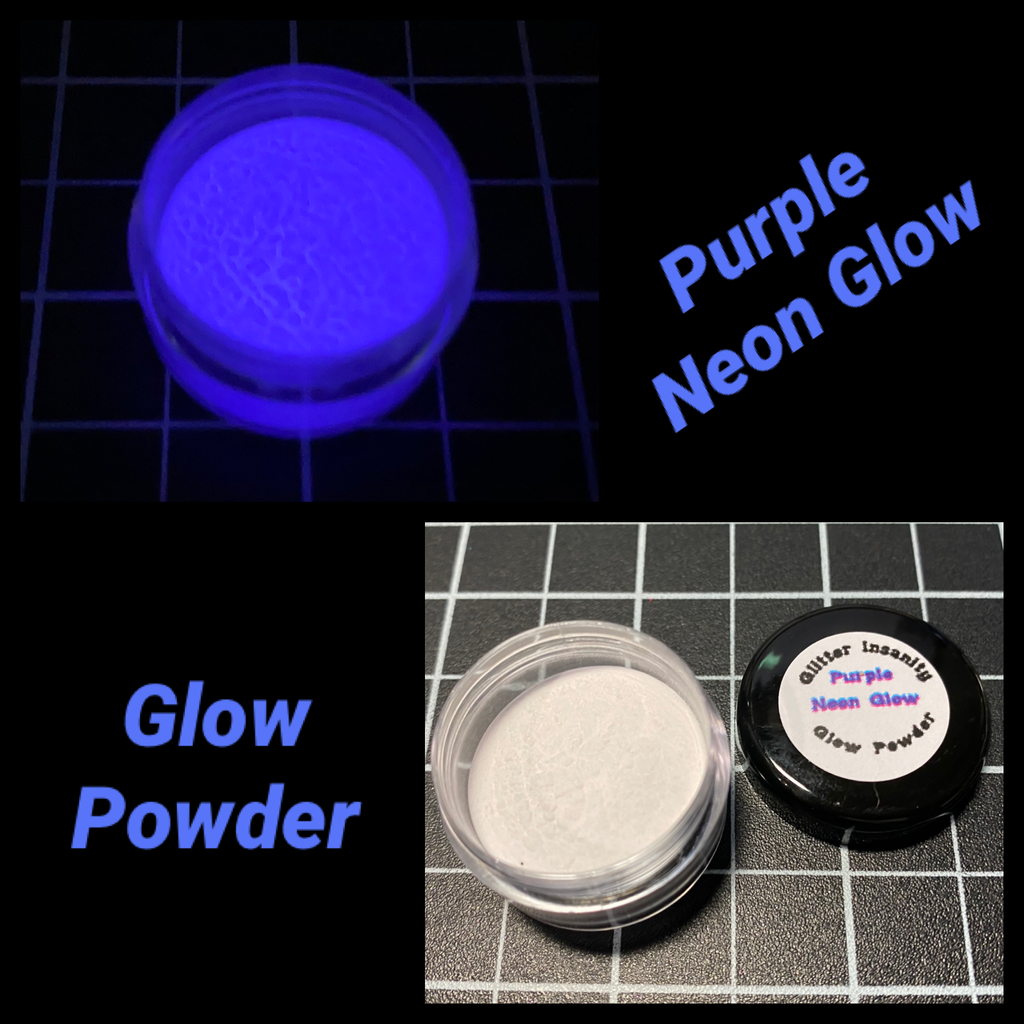 Purple Neon Glow Powder