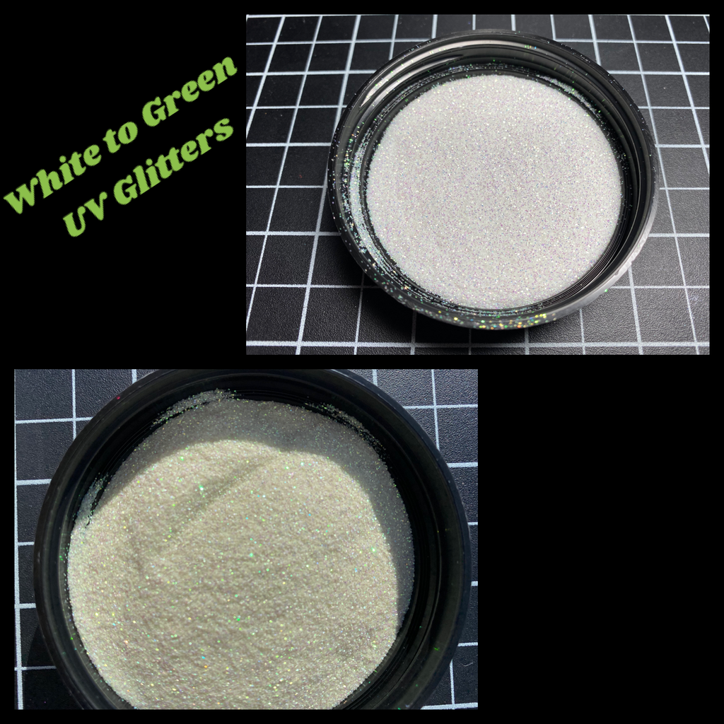 White to Green UV Glitter