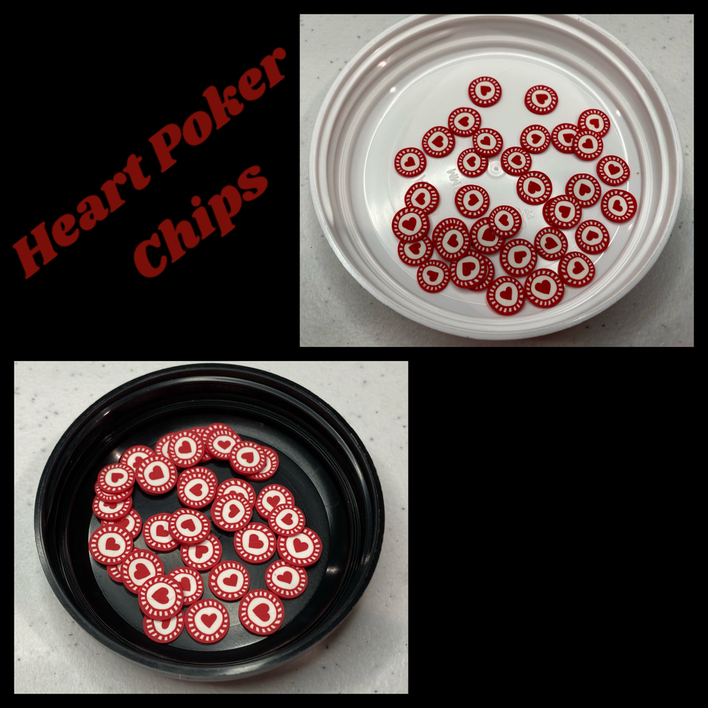 Heart Poker Chips