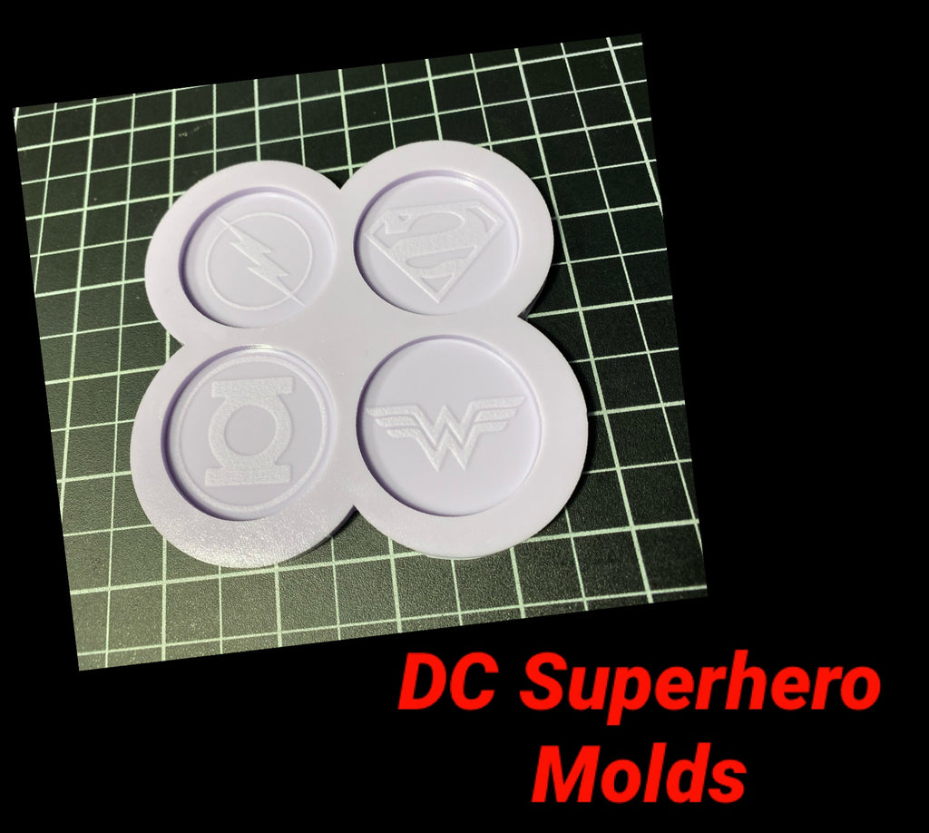 DC Superhero Phone Pop Molds
