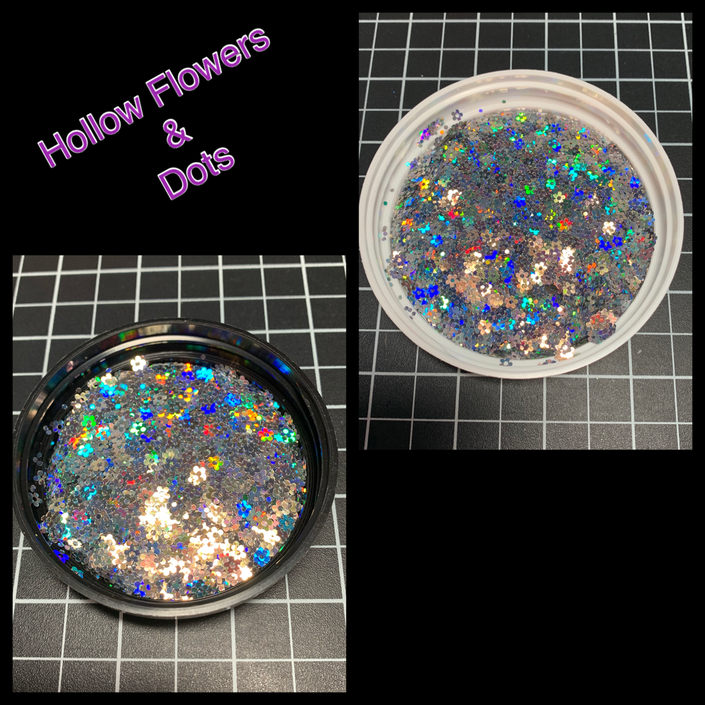 Hollow Flowers & Dots (Silver)