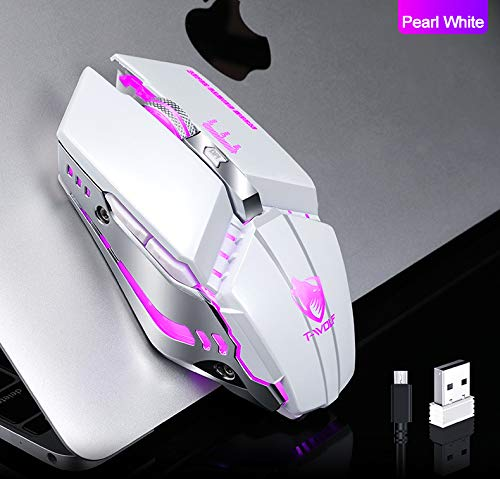 KOqwez33 Wireless Mouse 2.4GHz PC 2400DPI Optical Silent Ergonomic Mice Wireless Gaming Mouse with USB Receiver for Laptop Computer PC