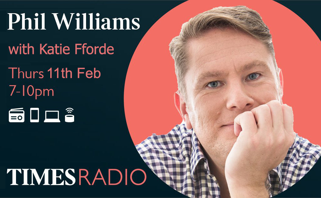 Times Radio - Phil Williams interveiws Katie Fforde (Thurs 11th Feb 2021)