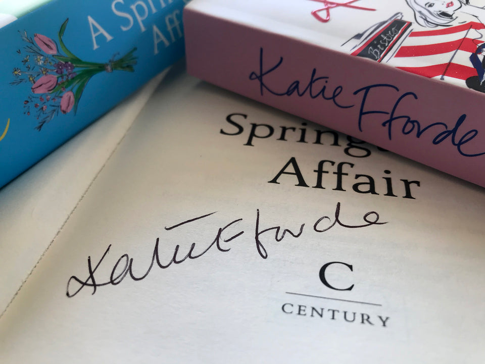 Katie Fforde books signed dedicated