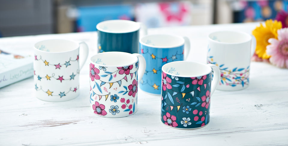 Katie Fforde mugs, tea towels, homeware