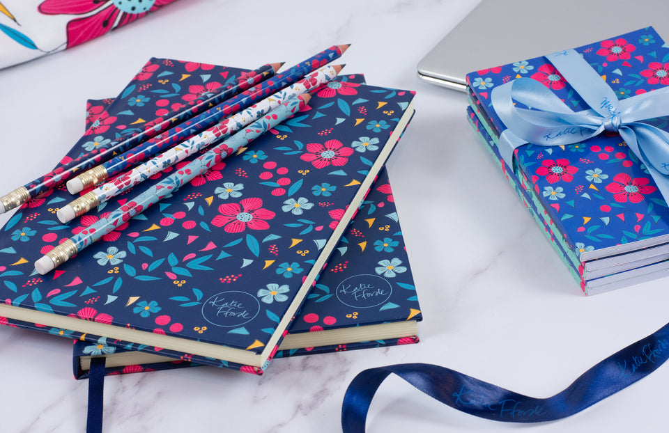 Katie Fforde stationery, notebook, pencils