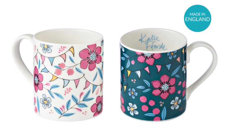 Set of Floral Mugs