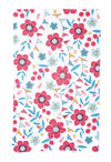 Floral Tea Towel White