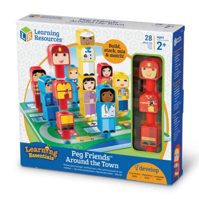 Learning Resources Peg Friends Around Town NIB