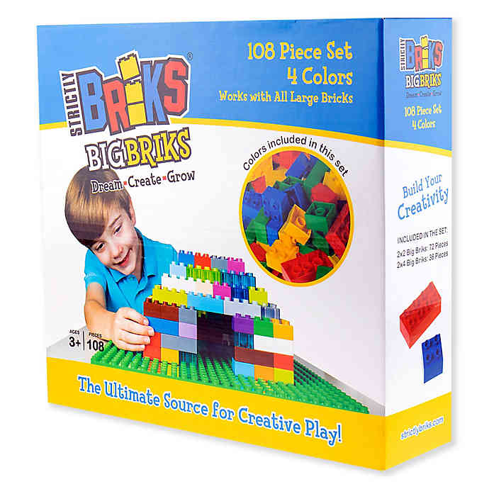 Strictly Briks® Big Briks Construction 108 Piece Set