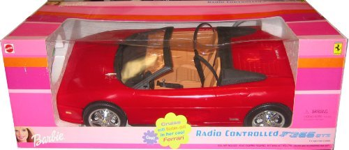 Barbie RC FERRARI F355 GTS Radio Controlled Red Car R/C Convertible Vehicle