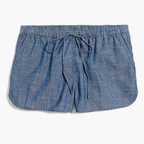 J. Crew Factory Chambray Draw String Shorts Shorts Size XS