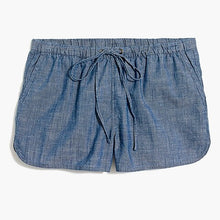 Load image into Gallery viewer, J. Crew Factory Chambray Draw String Shorts Shorts Size XS