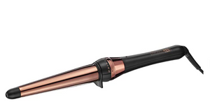 INFINITIPRO BY CONAIR Rose Gold Titanium Curling Wand, 1 ¼-inch to ¾-inch Curling Wand