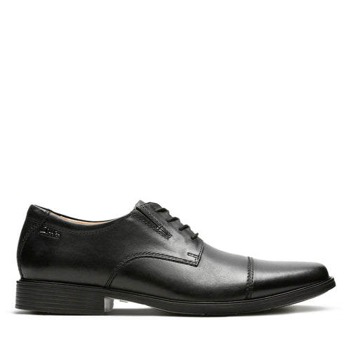 Clark Men's Tilden Cap Toe Oxford Black Leather Shoe Size 10.5