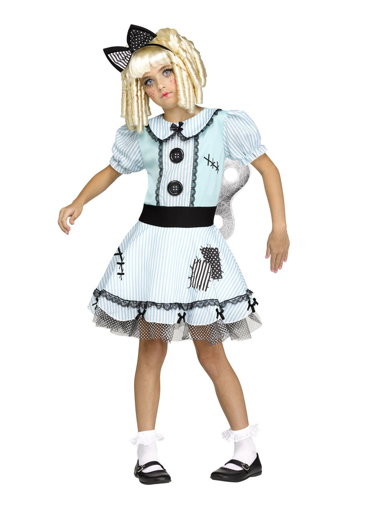 Halloween Wind-Up Doll  Costume ~ Child Large ~ NWT
