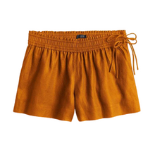 Load image into Gallery viewer, J. Crew Golden Brown Side-Tie Pull On Shorts Size Small NWT