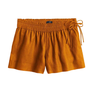J. Crew Golden Brown Side-Tie Pull On Shorts Size Small NWT