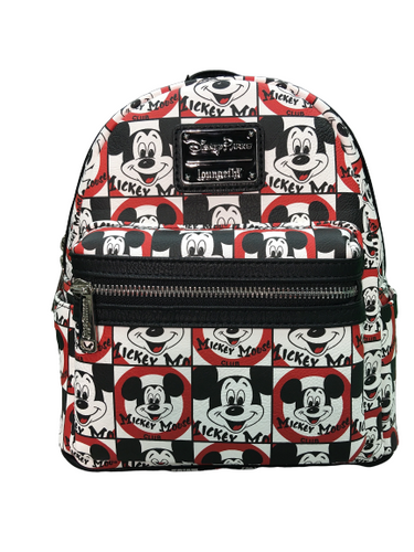 Disney Mickey Mouse Loungefly Red White and Black Backpack NWT