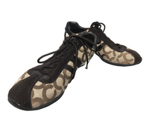 Load image into Gallery viewer, Coach Henrietta Signature Tennis Shoes Brown Women's Size 8.5