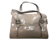 Load image into Gallery viewer, Ted Baker Taupe Patent Leather Satchel Handbag EUC