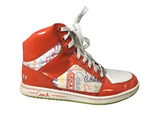 Load image into Gallery viewer, Coach Signature Graffiti Norra Orange High Top Sneaker 7.5