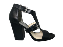 Load image into Gallery viewer, MICHAEL  Michael Kors Women's T Strap Platform Sandal in Black - Size 10