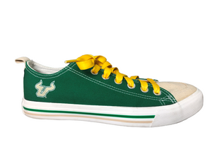 Florida USF Bulls SKICKS Unisex Low Top Shoes - Green Women's Size 10 Men's Size 8 EUC