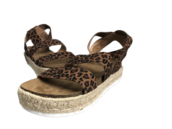 Time and True Leopard Espadrilles Size 8 NWT