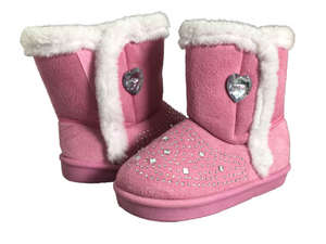 Swiggles Toddler Girl's Boots With Rhinestones Size 9