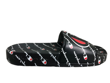 Load image into Gallery viewer, Champion IPO Repeat Black Slide Sandals Boys Size 5